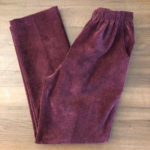 Alia Vintage High Waist Corduroy Pants